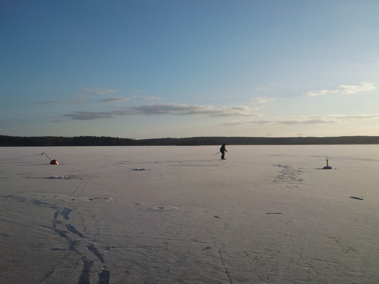 Iceskating on the lake at Stenhamra