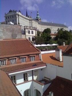 Prague Castle from toilet window 1