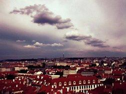 Prague purple clouds